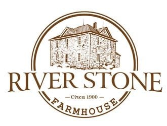 River Stone Farmhouse logo design