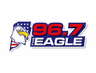 96.7 The Eagle logo design