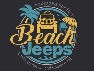 Beach Jeeps logo design