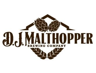 D.J. Brewster (Brand) logo design