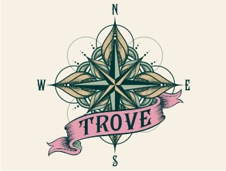 TROVE logo design