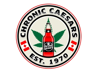 Chronic Caesars logo design