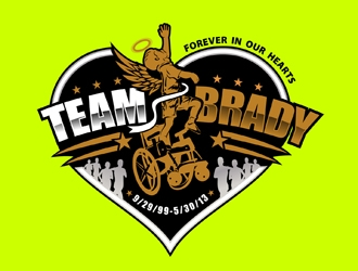 TeamBrady logo design