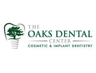The Oaks Dental Center Implant & Cosmetic Dentistry logo design