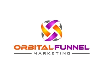 Orbital Funnel Marketing logo design
