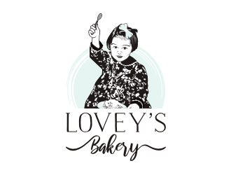 Loveys Bakery logo design