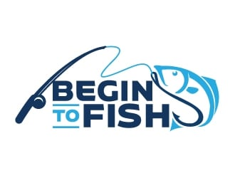 Begin To Fish logo design
