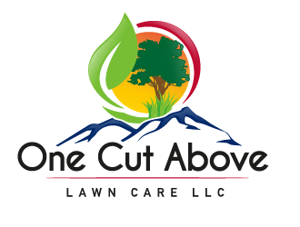 One Cut Above Lawn Care LLC logo design