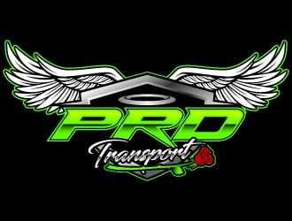 PRD transport logo design