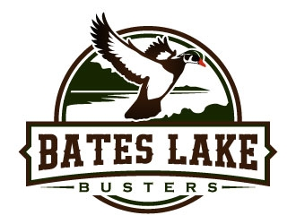 Bates Lake Busters logo design