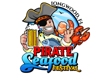 Longwood Pirate Seafood Festival logo design