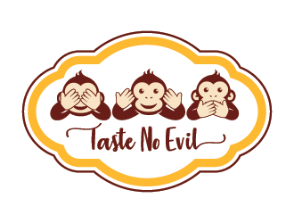Taste No Evil logo design
