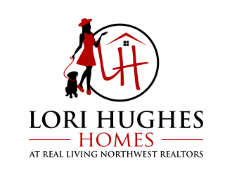Lori Hughes Homes with Real Living Northwest Realtors logo design