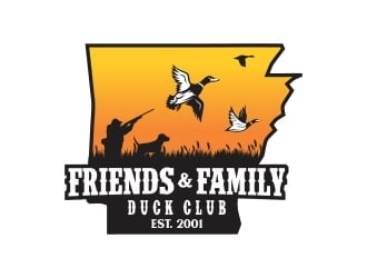 Friends and Family Duck Club Est. 2001 logo design