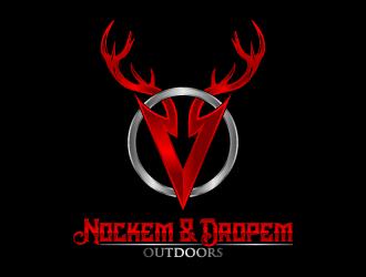 Nockem & Dropem Outdoors logo design winner