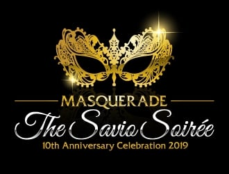 Masquerade the Savio Soirée 10th Anniversary Celebration April 27, 2019 logo design