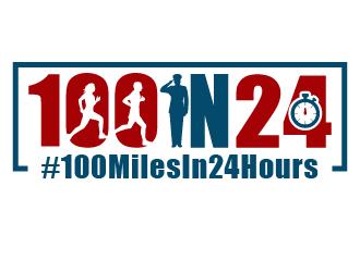 100 Miles In 24 Hours logo design winner