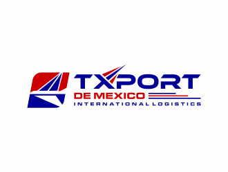 TXPORT DE MEXICO  logo design