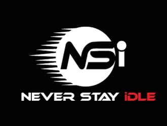 NEVER STAY idle logo design
