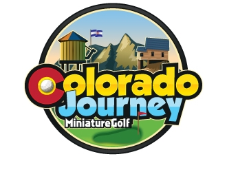 Colorado Journey Miniature Golf logo design