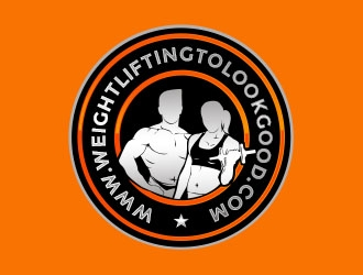 www.weightliftingtolookgood.com logo design