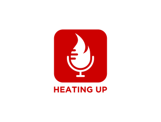 Heating Up (Podcast) logo design