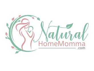 NaturalHomeMomma.com logo design
