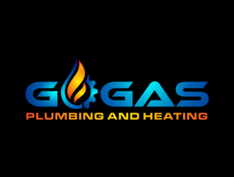 Go Gas plumbing and heating logo design