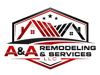 A&A Remodeling and services LLC logo design