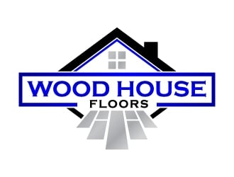 Wood House Floors logo design