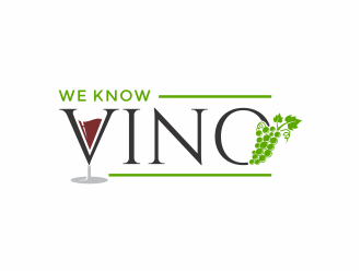 We Know Vino or Sip and Savor logo design