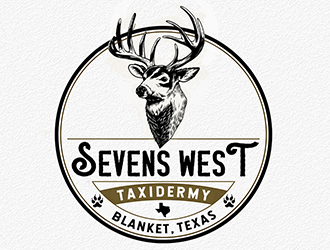 Sevens West Taxidermy Studio logo design