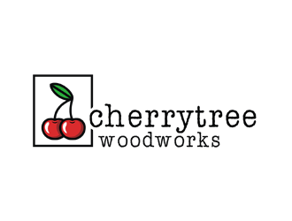 cherrytree woodworks logo design