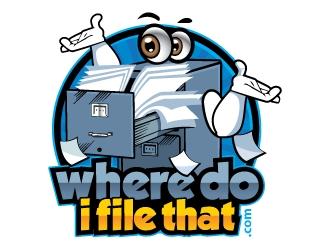 wheredoifilethat.com (where do I file that.com) logo design