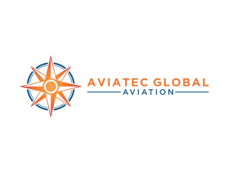 AVIATEC GLOBAL AVIATION logo design
