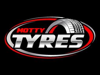 Motty Tyres logo design