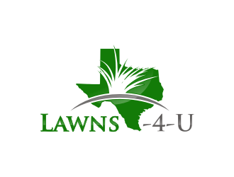 Lawns-4-U logo design