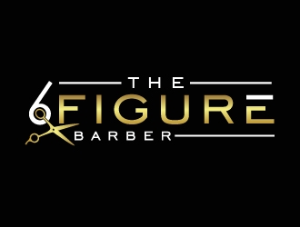 The 6 Figure Barber logo design