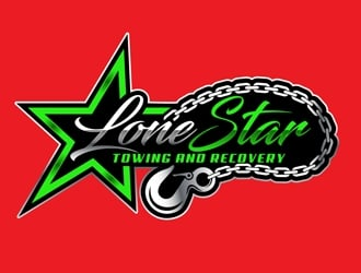 Lone Star Towing And Recovery logo design