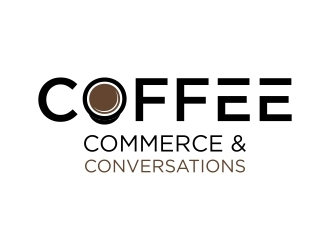 Coffee Commerce & Conversations  logo design