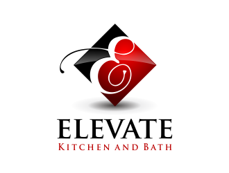 Elevate Kitchen and Bath  logo design