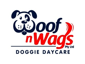 Woof n Wags Doggie Daycare logo design