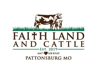 Faith land and cattle  logo design winner