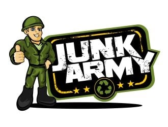 Junk Army logo design