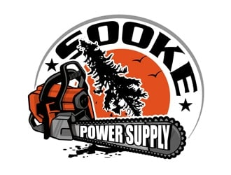 Sooke power supply logo design