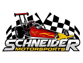 Schneider Motorsports logo design