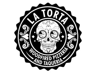 La Torta Woodfired Pizzeria and Taqueria logo design
