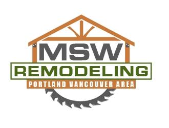 MSW Remodeling  logo design