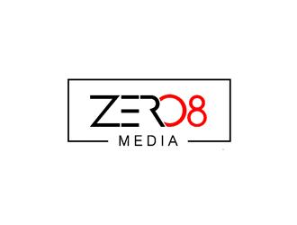 Zero 8 Media logo design