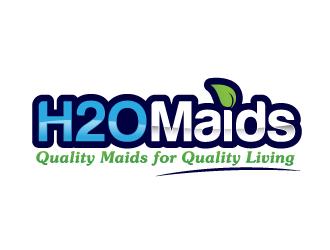 H2O Maids Quality Maids for Quality Living logo design